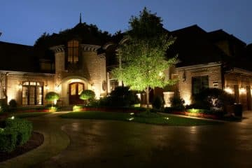 outdoor lighting on home